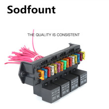Automotive 15 way fuse box multi circuit assembly control box fuse holder with relay, fuse, wiring harness assembly