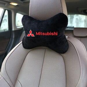 Nova marca chegada pescoço do carro almofadas de flanela algodão lateral único encosto cabeça apto para mitsubishi lancer asx outlander pajero l200