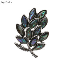 Hot selling abalone women brooch /  Simple shell series leaf