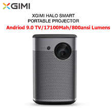 XGIMI Halo 3D Portable Projector Android TV 9.0 17100mAh 800ANSI Lumens 1080P 4-