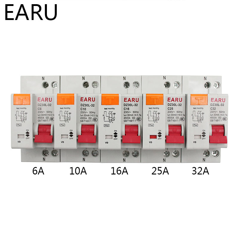 Ha0994cfc4b7446ac86208fd957d9c892Y - DZ30L DZ40LE EPNL DPNL 230V 1P+N Residual Current Circuit Breaker With Over And Short Current  Leakage Protection RCBO MCB 6-63A
