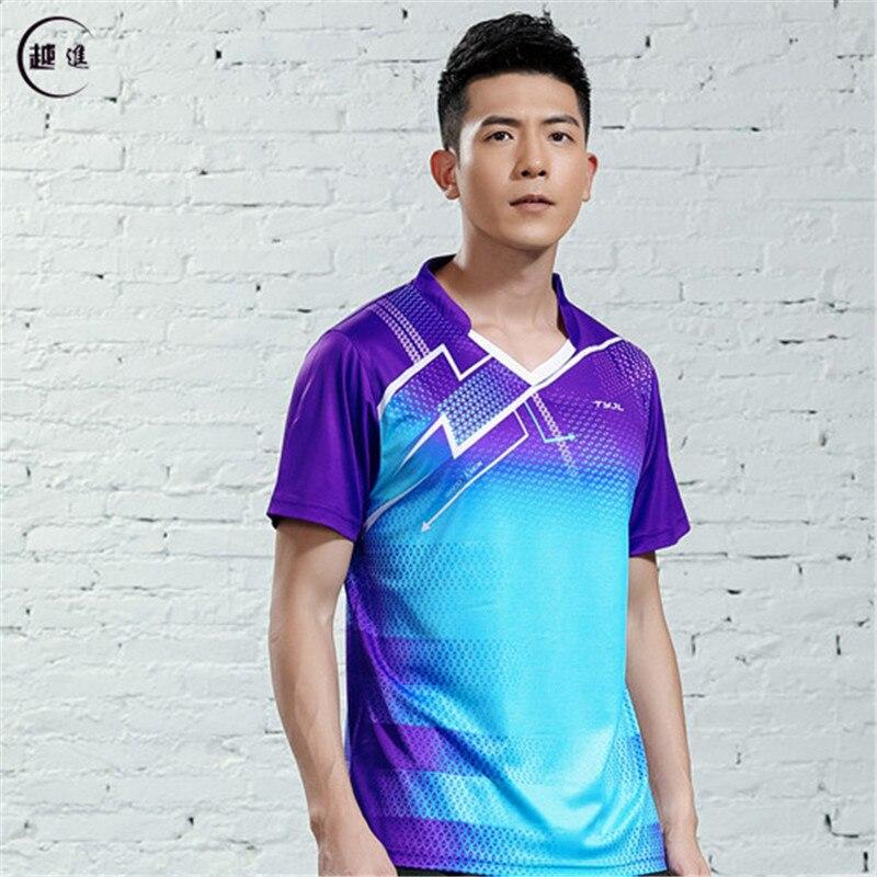 V-образная горловина, короткий рукав, форма для настольного тенниса, один топ для мужчин и женщин, летняя одежда для учеников средней школы, студентов средней школы - Цвет: A2623male1