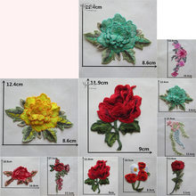 Fashion Embroidery Flowers Venice Lace Neckline Sewing Collar DIY Applique Decoration Cheongsam Dress supplies Craft Accessories(China)