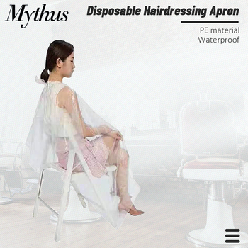100 Pieces Hairdressing Coloring Dye Gown Apron Hair Perming Cape Waterproof Transparent Disposable Hair Cutting Cape