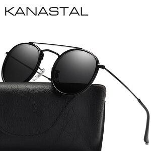 Luxury Women Sunglasses Men Oval Polarized Mirror Lens Sun Glasses Alloy Twin Beam Retro Glasses Shades Oculos Feminino UV400(China)