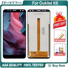 BingYeNing pantalla LCD y Digitalizador de pantalla táctil de 6,0 pulgadas para Oukitel K6 con Marco, accesorios de montaje para teléfono, herramientas de repuesto