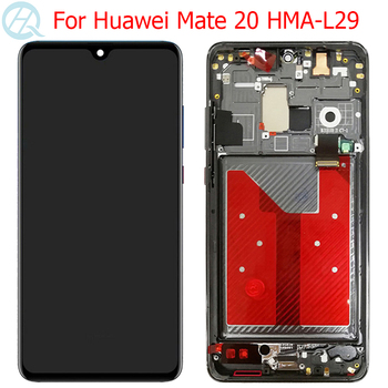 "Original LCD For Huawei Mate 20 Display With Frame 6.53"" Huawei Mate 20 LCD HMA-L29 Touch Screen Glass Panel Parts Assembly"