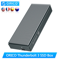 ORICO Thunderbolt 3 SSD Box NVME M.2 SSD Enclosure Case 2TB Type C with 40Gbps Thunderbolt 3 C to C Cable for Laptop Desktop