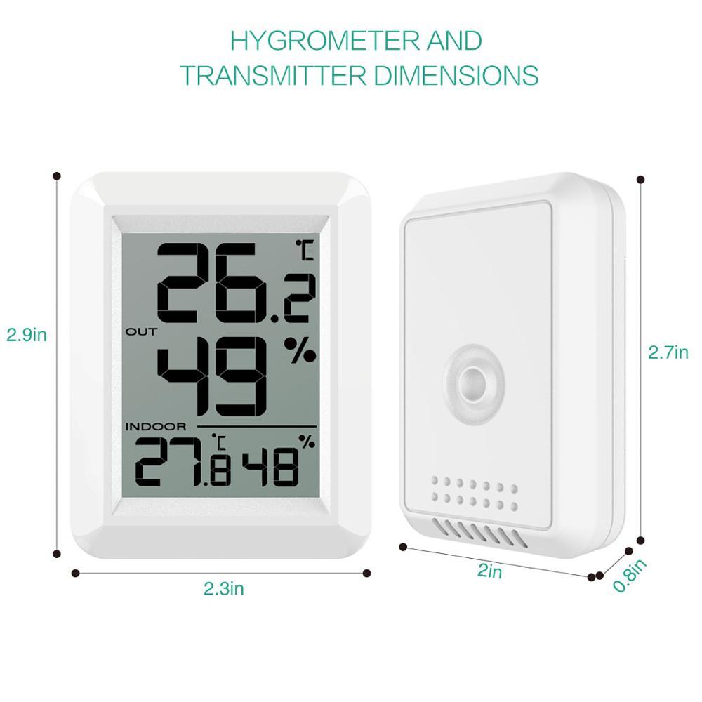 ORIA Digital LCD Indoor Outdoor Thermometer Temperature Mini Remote Thermometer Digital Lcd Temperature Thermometer Home in Temperature Gauges from Home Garden