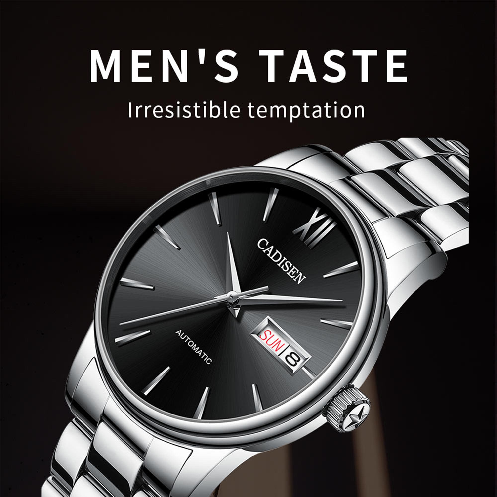 Ha099f5b0737d49b5b07b076acbc6653dh CADISEN Men Watch Automatic Mechanical Watches Role Date Week Top Luxury Brand Japan NH36A Wrist watch Clock Relogio Masculino