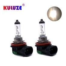 KULUZE 2Pcs H11 55W 12V  Auto Halogen Bulbs Fog Lights High Power Car Clear Quartz Headlights Lamp Car Light Source Parking