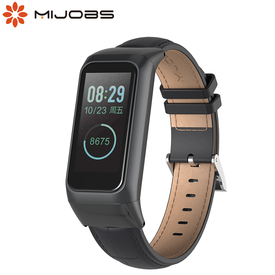 Mijobs Leather Strap For Amazfit Smart Watch Sport Band2 Cor 2 Wristbands For Huami Amazfit Band Cor 2 Smart Wrist Bracelet