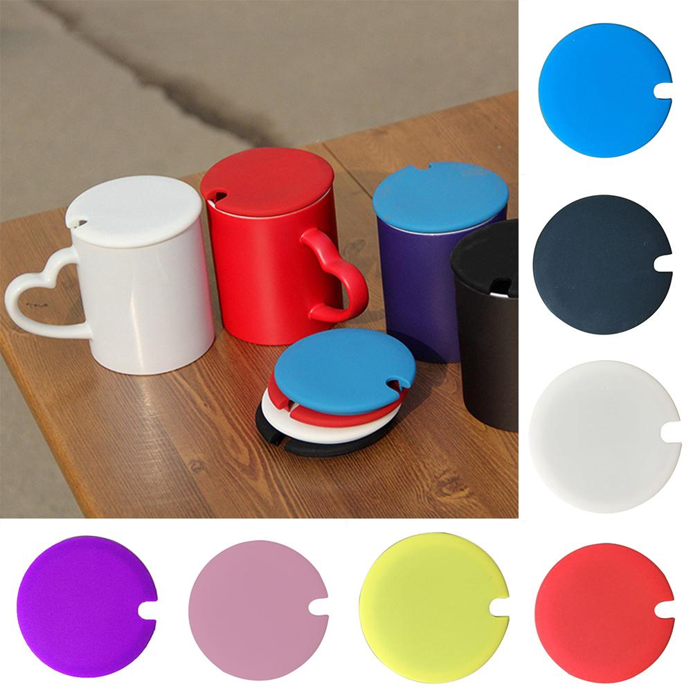 Universal Food Grade Silicone Cup Cover Lid With A Notch Dust-proof Lid For Cup Water Bottle