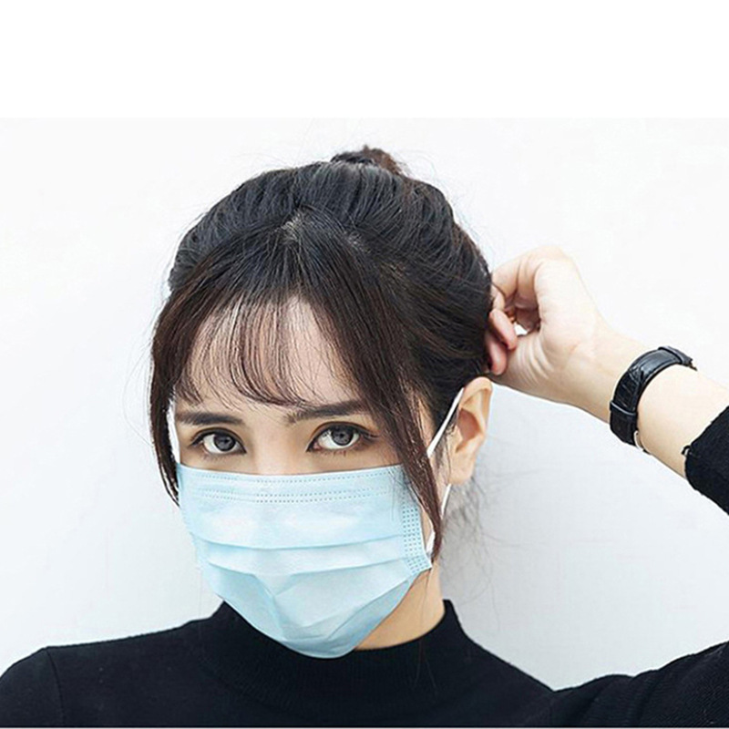 DHL Free Shipping Adult Non Woven Disposable Mask Face Masks 3-ply N95 Safely Mask Pm2.5 Apply To Dust Adult Filter Masque Mouth