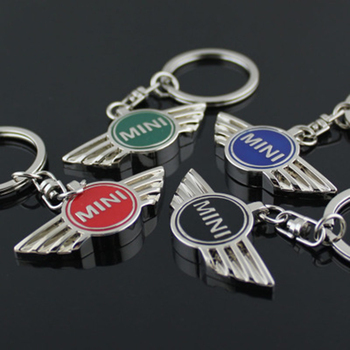 3D Metal Car Keychain Key Chain Key Rings Logo Auto Accessories For BMW Mini Cooper One S JCW R52 R55 R56 R58 R59 R60 F55 F56 ambermile 3d metal car stickers rear trunk tail emblem for mini cooper s r55 r56 r57 r58 r59 r60 r61 f54 f55 f56 f60 accessories