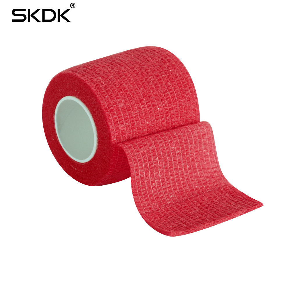 2,5-10 см Спорт эластопласт Атлетическая кинезиологическая эластичная повязка лодыжки колено артроз протектор самоклеющиеся обертывание-7 - Цвет: Красный