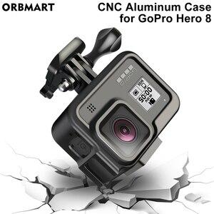 Image 5 - Cnc Aluminium Case Voor Gopro Hero 8 Zwart Metalen Frame Kooi + Screen Protector + Lens Gehard Glas Voor Go pro 8 Accessoires