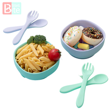 6 Style Silicone Square Bowl Baby Tableware Baby Feeding Silicone Bowl Non-Slip Food