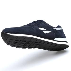 Image 2 - Кроссовки Valstone мужские из натуральной кожи, Повседневные Дышащие сникерсы, нескользящая светильник Личная обувь для прогулок, легкие, синие, серые