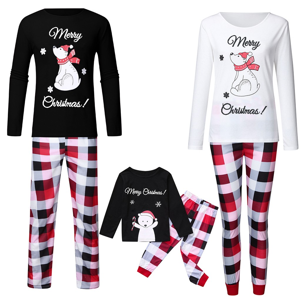 Christmas Lady Mommy   Pajamas     Set   Cartoon Snowflake Top+Pants Xmas Family Clothes High Quality Fashion Snowman Print   Pajamas     Set
