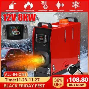 Car-Heater Trucks-Motor Webasto Air-Diesels Hcalory 8KW All-In-One Key-Switch 12V/24V