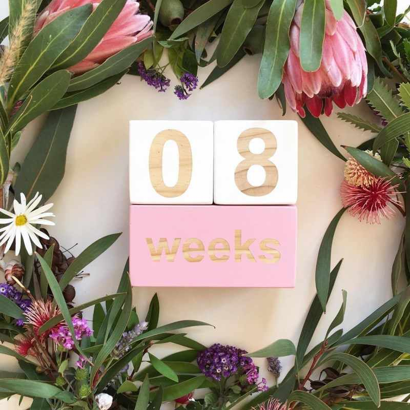 INS Nordic Baby Wachstum Meilensteine Holz Blöcke Buchstaben Zahlen kinder Geburtstag Memorial Holz Ornamente Kinder Zimmer Dekoration