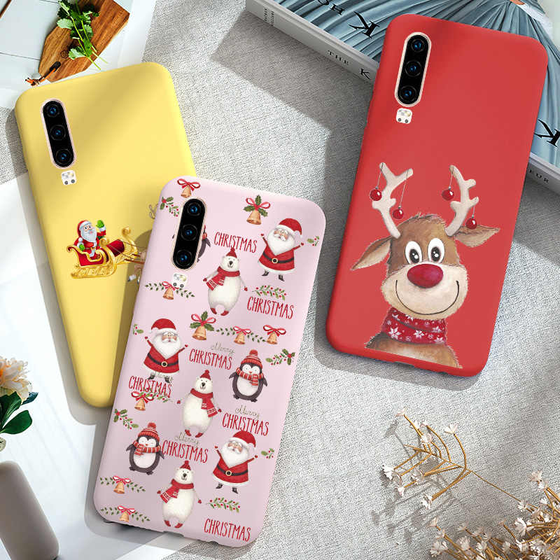 Christmas Case For Huawei P9 P10 P20 Lite P30 Pro Lite Case Silicone Soft For Huawei Y5 Y6 Prime 2019 Cover Bumper Y5 Lite 2018