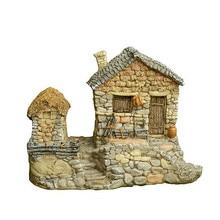 Bonsai Garden Floor Pot Mini House Decoration Home Micro Landscape Resin Model Office Decoration Handmade Art