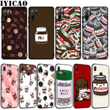 IYICAO Frissons Pilules Chocolat Nutella En Silicone Souple étui pour huawei P30 P20 Pro P10 P9 Lite Mini 2017 2016 P Smart Z Plus 2019(China)