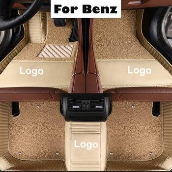 Alfombrillas de coche personalizadas para Mercedes Benz todos los modelos A B C E S clase W204 W205 W211 W212 W213 CLA GLC ML GLA GLE GLK con logotipo