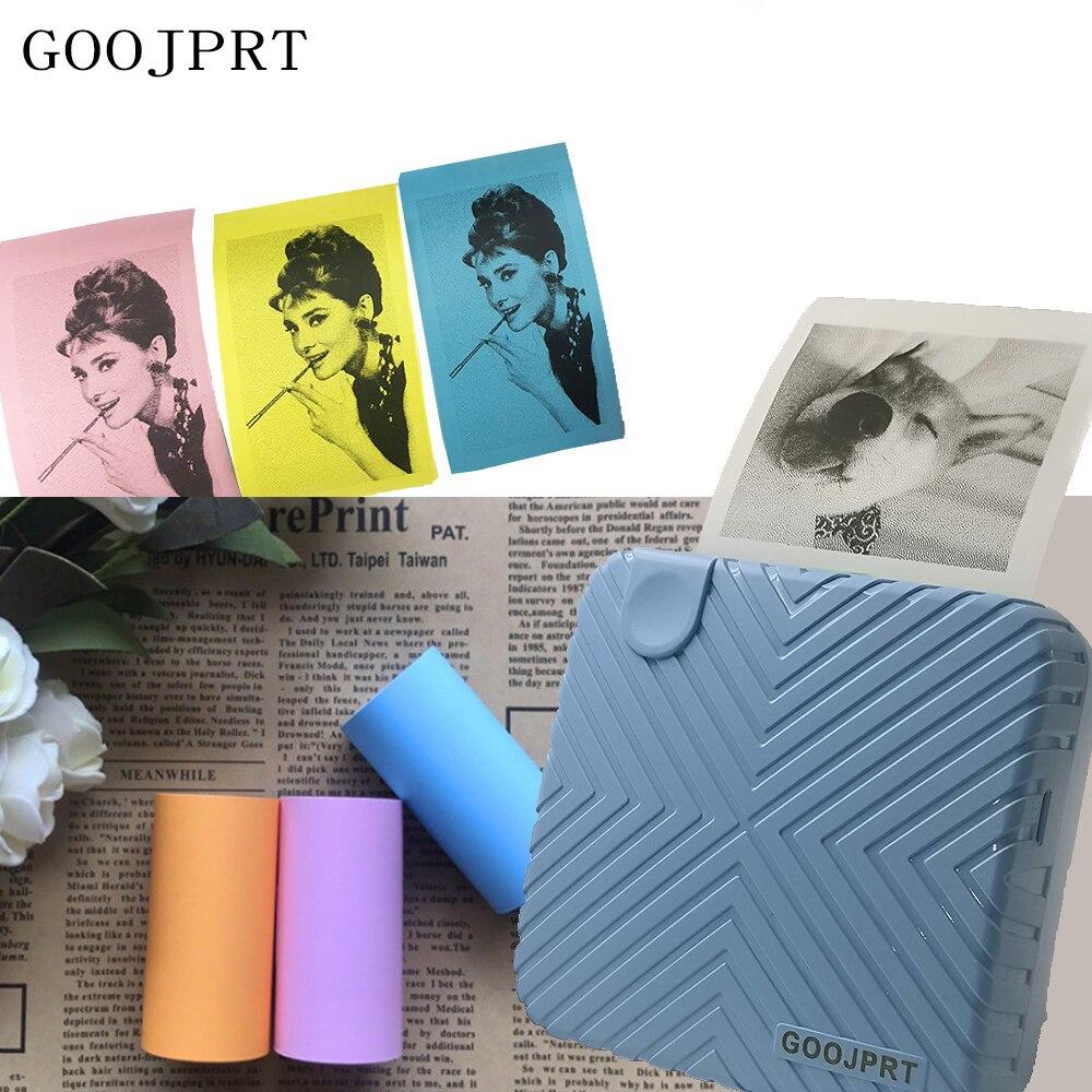 Goojprt p6 Nette Gestreifte Thermische Bluetooth Drucker Handy Pc Handtellergroße Foto Bild Drucker Unterstützung Android Ios
