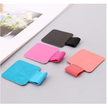 3 Pcs/Pack Self-Adhesive Leather Pen Holder Clip Pencil Elastic Loop Designed for Notebooks Journals Calendars