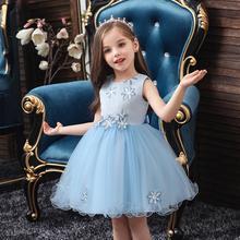 NEW baby girl dress kids birthday dresses Embroidery Flower Wedding presiding Stage performance