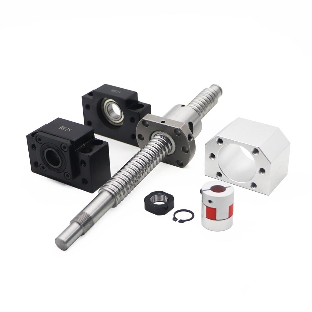 1 anti backlash 25mm ballscrew RM2505-1500mm-C7+BK//BF20 end bearing support CNC
