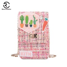 RARE CREATIVE Crossbody Cell Phone Shoulder Bag Fashion Daily Holder Purse Womens Wallet Embroidery Woolen HM6031