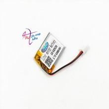 JST XH 2.54mm 602530 3.7V 600MAH Lityum Polimer LiPo şarj edilebilir pil Için Mp3 kulaklık PED DVD bluetooth kamera