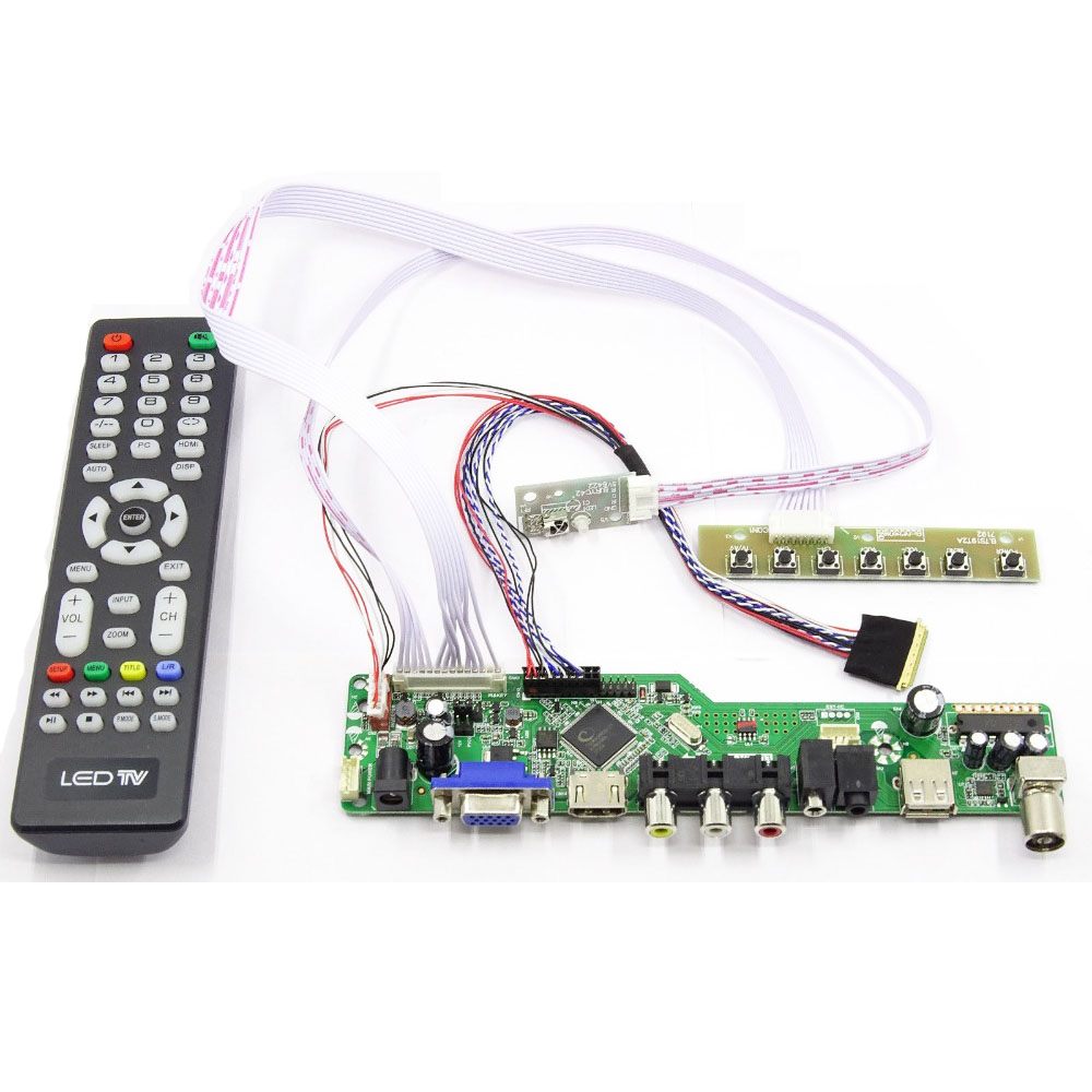Latumab New Kit for N173HGE L11 TV+HDMI+VGA+USB LCD LED screen Controller Driver Board|Tablet LCDs & Panels| |  - title=