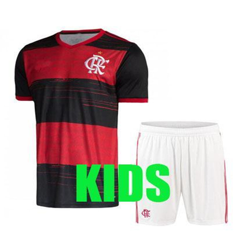 KIDS 2020 2021 Flamenco Soccer Jersey Camisetas De Fútbol Flamengo GUERRERO DIEGO 20 21 Pedro FANS VERSION KIDS Football Shirt