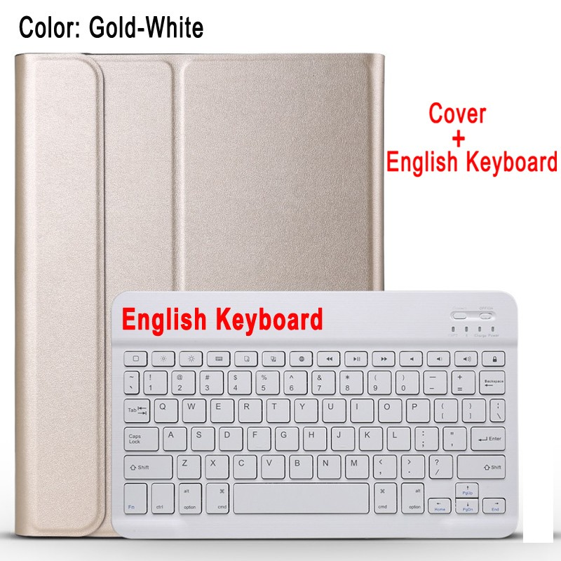 English Keyboard White Case Keyboard For Apple iPad 10 2 2019 7 7th 8th Gen Generation A2197 A2200 A2198