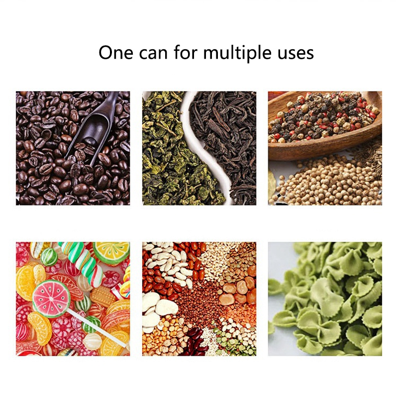 3Pcs Kitchen Food Storage Container Set -Coffee Beans Candy Box Fruit Fresh Saver Grain Transparent Sealed Cans(S,M,L) 5