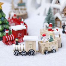 Enfeites de natal de madeira trem de natal 2021 feliz natal decoração para casa natal natal presentes noel brinquedos de natal feliz ano novo