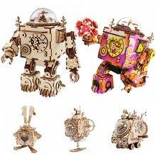 Robotime – ventilateur rotatif en bois, 5 types, bricolage, Steampunk, Kits de construction, assemblage, jouet, cadeau pour enfants et adultes, AM601