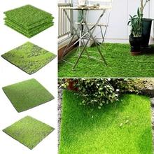 15/30cm Square Green Artificial Lawns Grass Mat Turf Carpets Fake Sod Garden Moss For Home Garden Floor Wedding Decoration