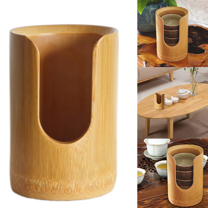 Wild Bamboo Tea Cups Container Holder Storage for Makeup Remover Pads Organizer E2S