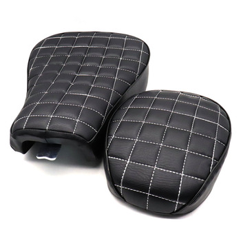 For Harley Sportster 883 1200 10-15 Motorcycle Black Front Driver+Rear Passenger Two Up Seat Sofa Tour Seat Bench Rear Cushion