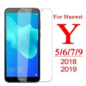 Перейти на Алиэкспресс и купить 9H Защитное стекло для Huawei Y5 Y6 Y7 Y9 Prime 2018 закаленное стекло для Y5 Lite Y 5 6 7 9 Pro 2019 Защитная пленка для экрана