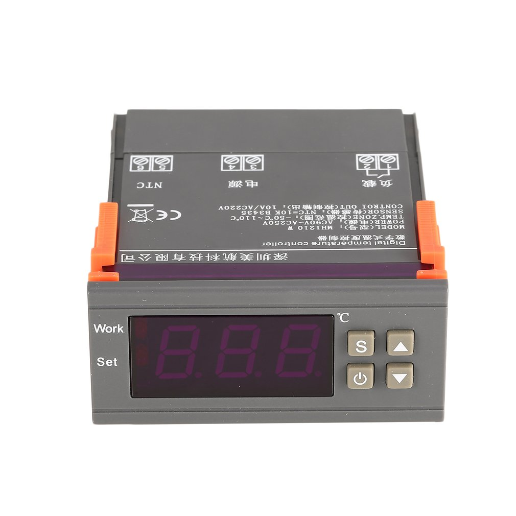 MH1210W AC90 250V Digital Temperature Thermostat Regulator Controller Heating Cooling Control NTC Sensor