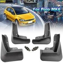 Автомобильные Брызговики передние и задние брызговики Брызговики для Volkswagen VW Polo AW 6 MK6 набор грязных охранников