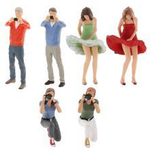 1/64 Scale Miniature Scene People Men Action Figure Scenario Character for Diorama Train Layout DIY Set
