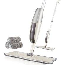 Mop rozpylacz z wkładką z mikrofibry do prania w pralce, akcesoria do sprzątania podłóg z twardego drewna, w zestawie butelka na wodę do wielokrotnego napełniania, usuwanie kurzu, szybkie porządki